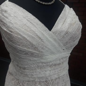 NEW ARRIVAL: Plus Size Lace Aline Wedding Dress