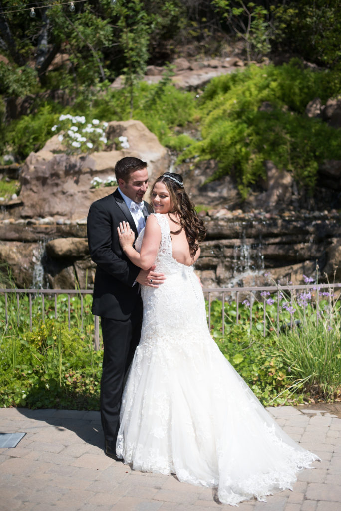 low back plus size lace wedding dress