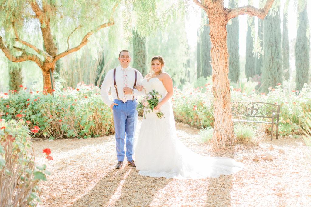 California garden wedding with real plus size bride
