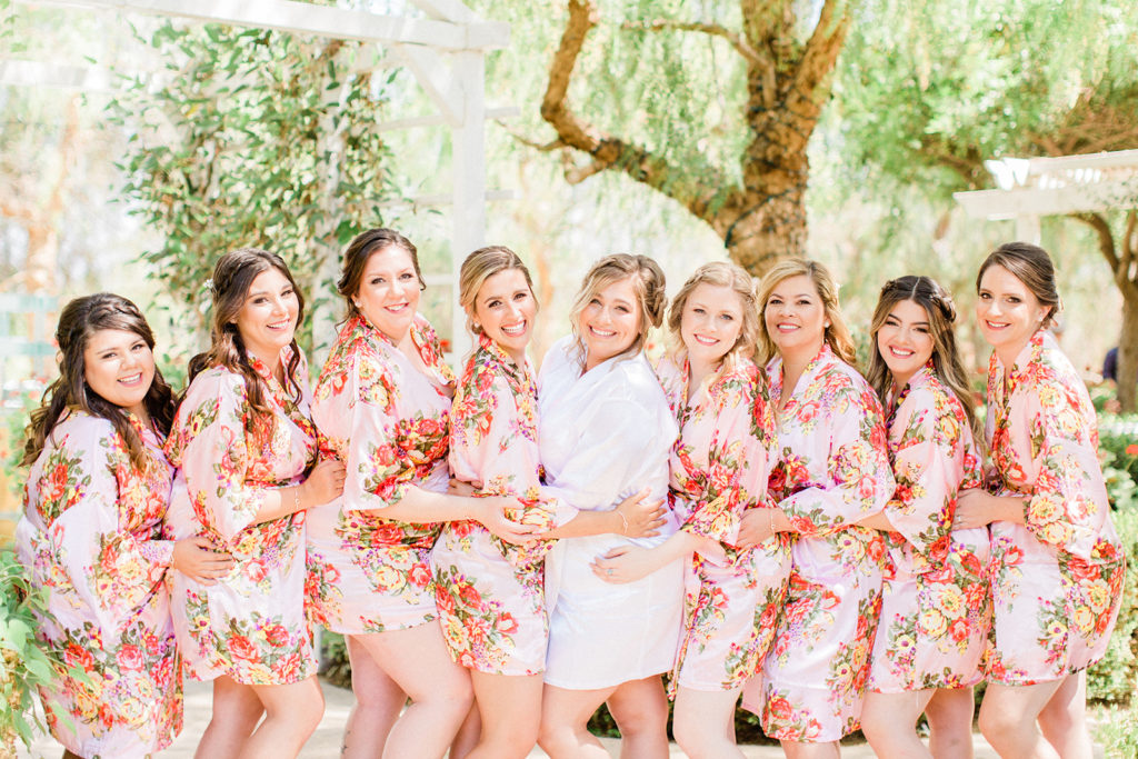 floral bridemaid robes