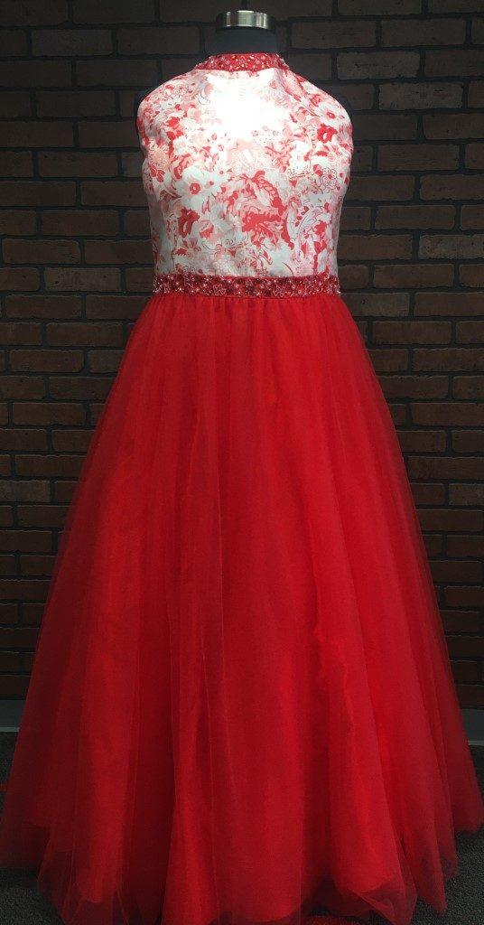 high neck halter ballgown prom dress