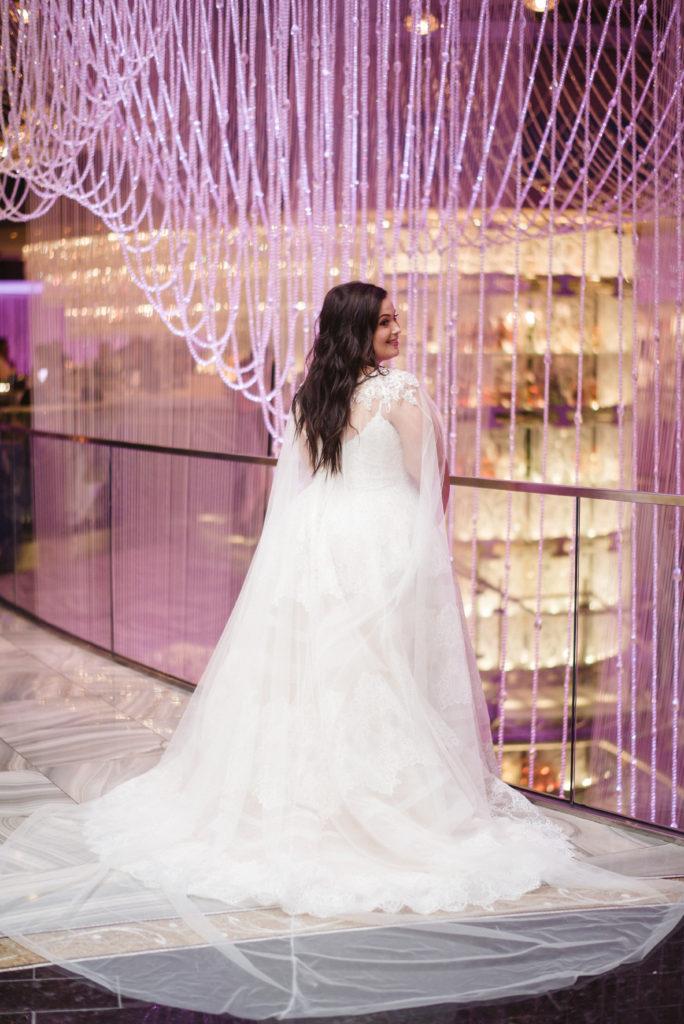 plus size wedding dress with cape