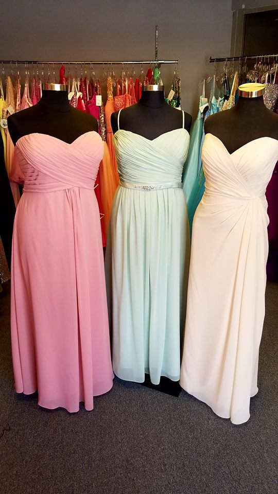 chiffon plus size bridesmaid dress