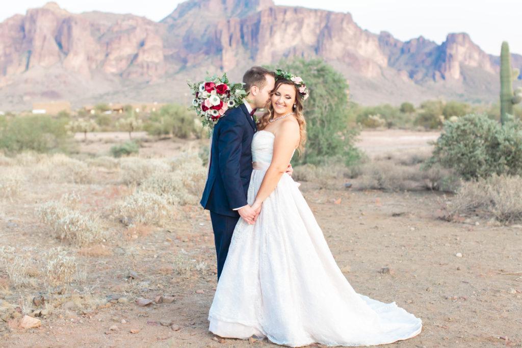 curvy bride in plus size ballgown wedding dress