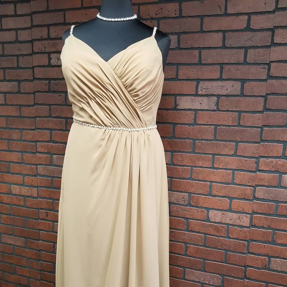 plus size bridesmaid dress with straps