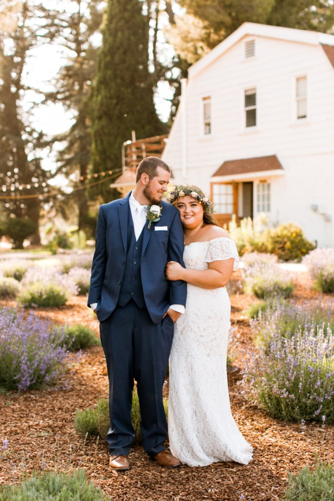 Highland Springs Ranch inn out door wedding happy couple