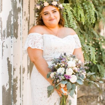 Megan's Off  The Shoulder Lace Wedding Dress