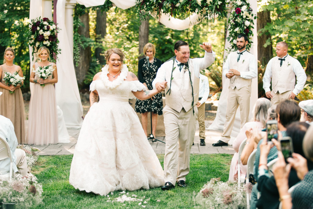 newlyweds plus size bride