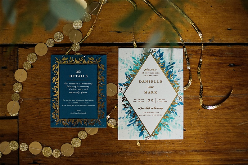 blue and gold wedding colors