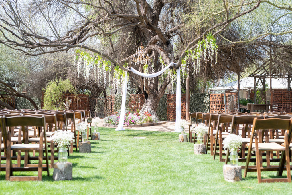 wedding alter for outdoor wedding