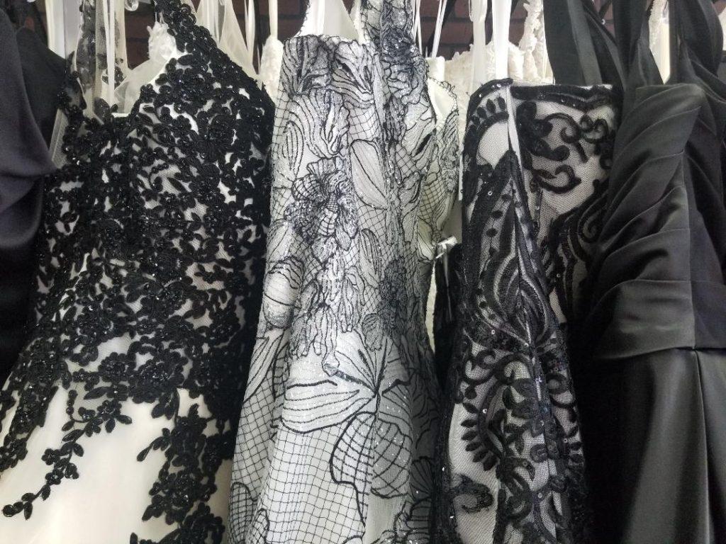 unique plus size black wedding dresses